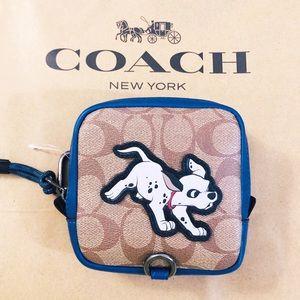 Coach Disney Dalmatian Bag Square Hybrid Pouch NWT
